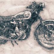 Bsa Gold Star - 1938 - Motorcycle Poster - Automotive Art Art Print