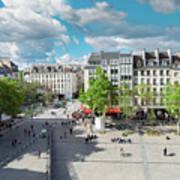 Georges Pompidou Square Art Print