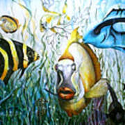 Bubba Fish And Friends Art Print