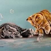 Bubble Cats Art Print