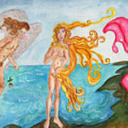 Bubblegum Angel And The Birth Of Venus Art Print