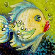 Bubbles Fish Art Print