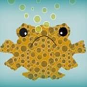 Bubbles The Fish Art Print