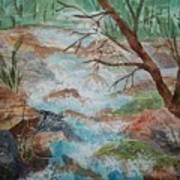 Bubbling Falls Art Print