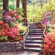 Buchart Garden Stairway Art Print