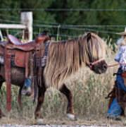Buckaroo Cowgirl Art Print