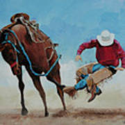 Bucking Bronco Art Print