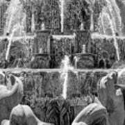 Buckingham Fountain Closeup Black And White Art Print