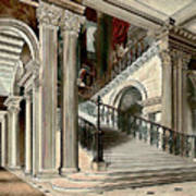 Buckingham House Stair Case Art Print