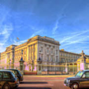 Buckingham Palace And London Taxis Art Print