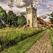 Bucklebury Parish Church Berkshire Art Print