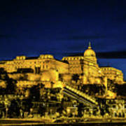 Buda Castle At Night Art Print