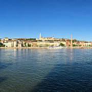 Budapest And Danube Panorama Art Print