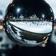 Budapest Globe - City Park Ice Rink Art Print