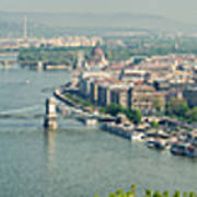 Budapest Panorama Photo Art Print