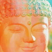 Buddah Glow Art Print