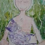 Buddess And Cat Art Print