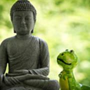 Buddha And Buddy Art Print