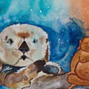 Buddha And The Divine Otter No. 1374 Art Print