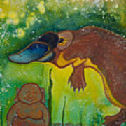 Buddha And The Divine Platypus No. 1375 Art Print