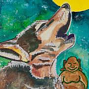 Buddha And The Divine Wolf No. 1370 Art Print