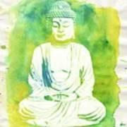 Buddha By Raphael Terra Art Print