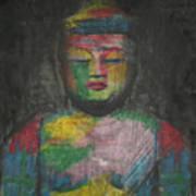 Buddha Encaustic Painting Art Print
