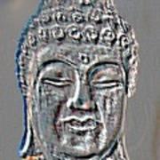 Buddha Head 3 Art Print