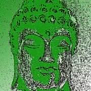 Buddha Head 4 Art Print