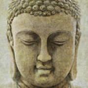 Buddha Head Art Print by M Montoya Alicea