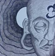 Buddha In Ink Art Print
