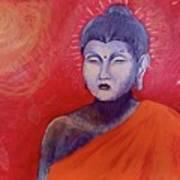 Buddha In Red Art Print