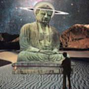 Buddha In Saturn Art Print