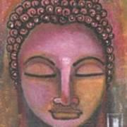 Buddha In Shades Of Purple Art Print
