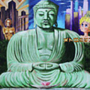 Buddha In The Metropolis Art Print