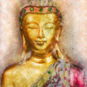 Buddha Peace Love And Light Art Print