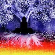 Buddha Under The Wisdom Tree Art Print