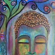 Buddha With Tree Of Life Art Print