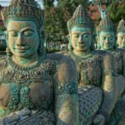 Buddhas All In A Row Art Print