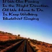 Buddhist Proverb Art Print