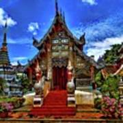 Buddhist Temples In Chiang Mai Art Print