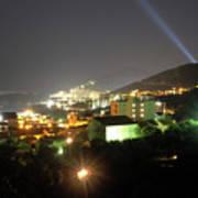 Budva At Night, Montenegro Art Print
