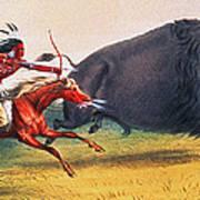 Buffalo Hunt, C1832 Art Print