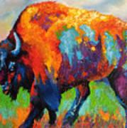 Buffalo On Weed Art Print
