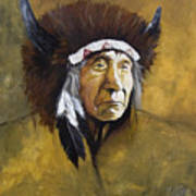 Buffalo Shaman Art Print by J W Baker