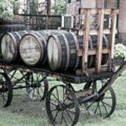 Buffalo Trace Barrel Wagon Art Print