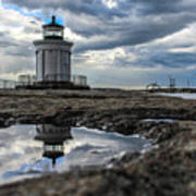 Bug Light Clouds And Reflection Art Print