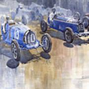Bugatti 51 Alfa Romeo 8c 1933 Monaco Gp Art Print