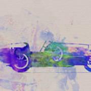 Bugatti Type 35 R Watercolor 2 Art Print by Naxart Studio