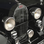 Bugatti Type 57 In Black Art Print
